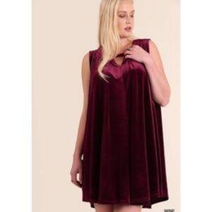 Umgee Dresses - Umgee Velvet Swing Dress